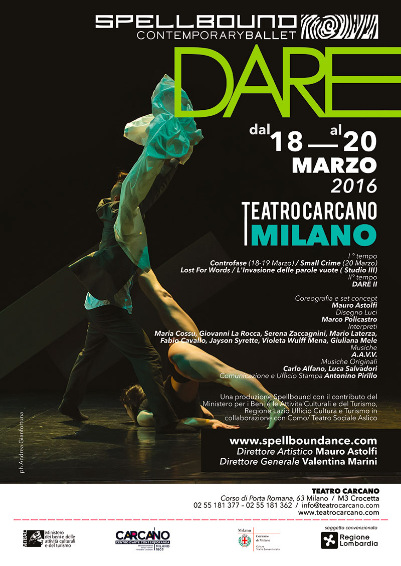 DARE - Spellbound Contemporary Ballet al Carcano